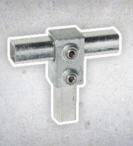 rohrverbinder - Vierkant 25x25 mm