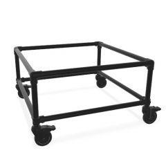 Beistelltisch Gerlos Duo | Schwarz 26,9 mm | Rad | DIY