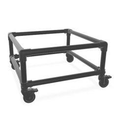 Beistelltisch Gerlos Duo | Schwarz 33,7 mm | Rad | DIY