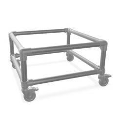 Beistelltisch Gerlos Duo | Stahl 33,7 mm | Rad | DIY