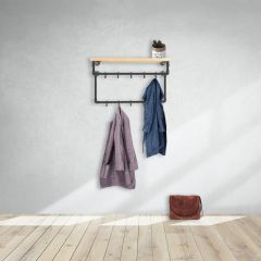 Garderobenstange Bath | Schwarz 26,9 mm | Wand | DIY