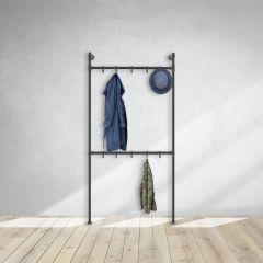 Garderobenständer Chester | Schwarz 33,7 mm | stehend | DIY