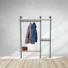 Garderobenständer Wakefield | Schwarz 33,7 mm | stehend | DIY