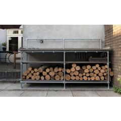Brennholz-Ständer Karlstad | Stahl 33.7 mm | Boden | DIY