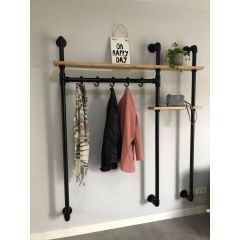 Garderobenständer London | Schwarz 26,9 mm | Wand | DIY