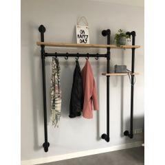 Garderobenständer London | Schwarz 33.7 mm | Wand | DIY