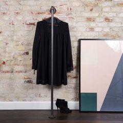 Kleiderständer Grenoble | Schwarz 33,7 mm | Boden/Wand | DIY