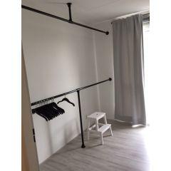 Kleiderständer Rouen | Schwarz 33,7 mm | Boden/Wand | DIY
