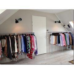 Kleiderständer Tours| Stahl 26,9 mm | Boden/Wand | DIY