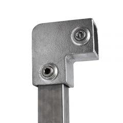 Kniestuk 90° - vierkant (40mm)