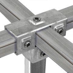 T-Stuk met Zij-Uitgang - vierkant (40mm)