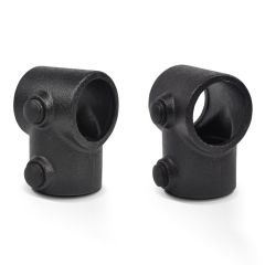 Verschlusskappe 42.4 / 48.3 / 60.3 mm - schwarz (25 Stück)
